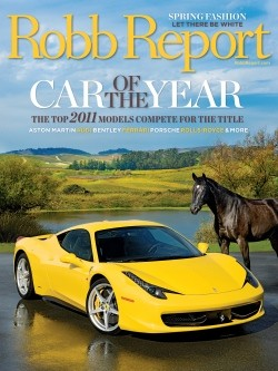 Robb Report 2011 Car of the Year issue
