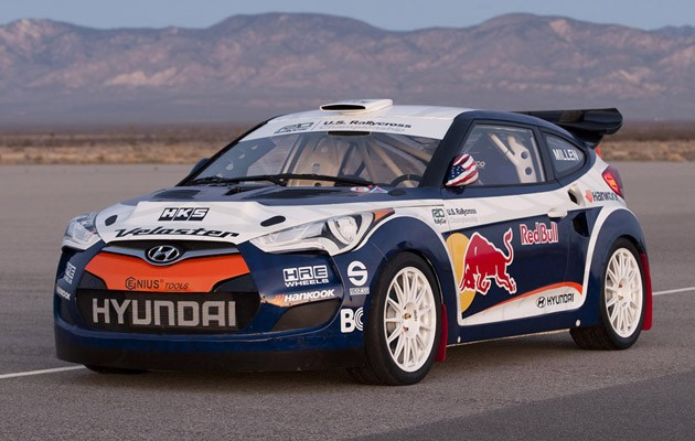RMR Hyundai Veloster rally car