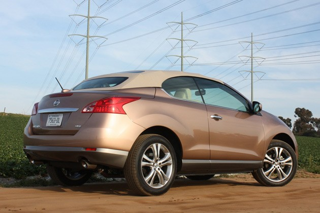 2011 Nissan Murano CrossCabriolet rear top up