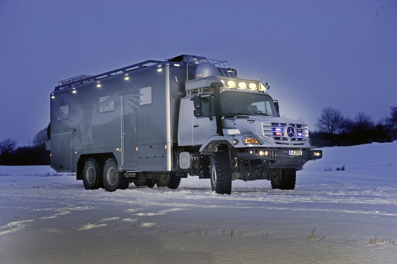 Mercedes Benz Zetros 6x6 Luxed Up For Mongolian Hunting