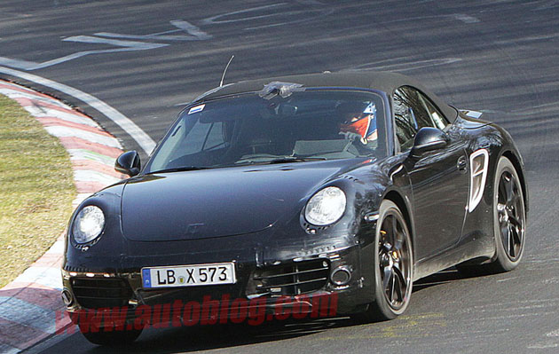 spy photo porsche 911 cabriolet