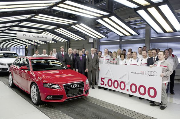 Audi A4 number 5 million rolls off the line