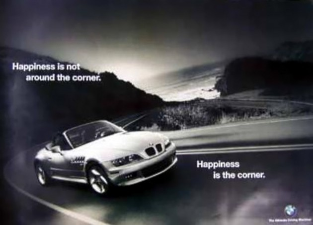 Happiness is the corner BMW ad