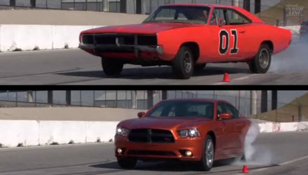 1969 Dodge Charger General Lee versus 2011 Dodge Charger R/T