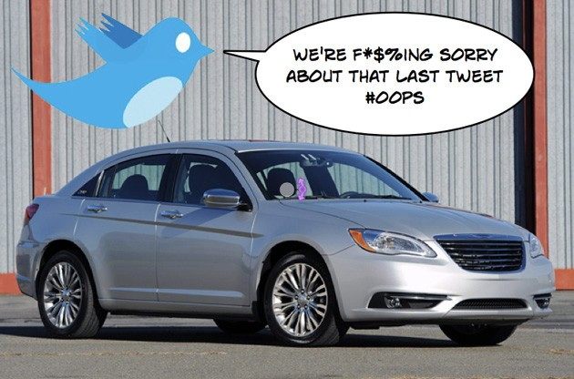 chrysler f-bomb tweet