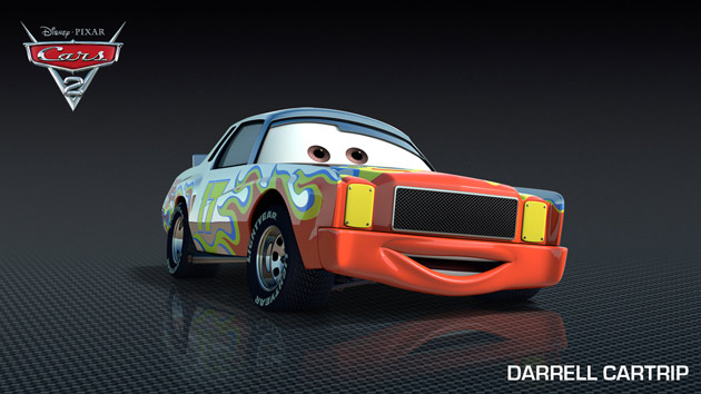 Darrell Waltrip as voice of Darrell Cartrip in Pixar's CARS 2