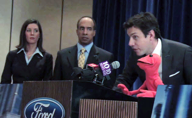 Doug the puppet as Ford Focus spokesperson