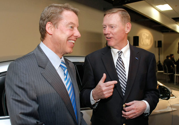 Bill Ford Jr. and Alan Mulally
