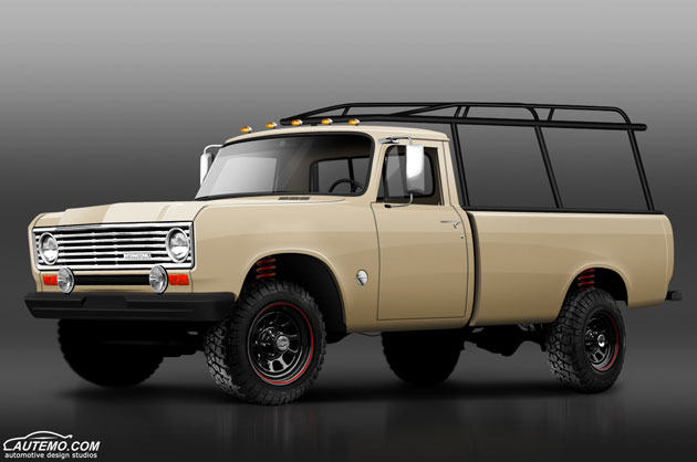 1975 International 150 Pickup Automotive Rendering