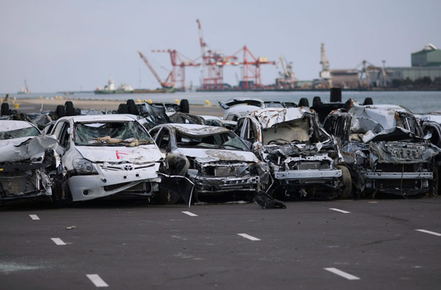 Japan's tsunami-damaged cars