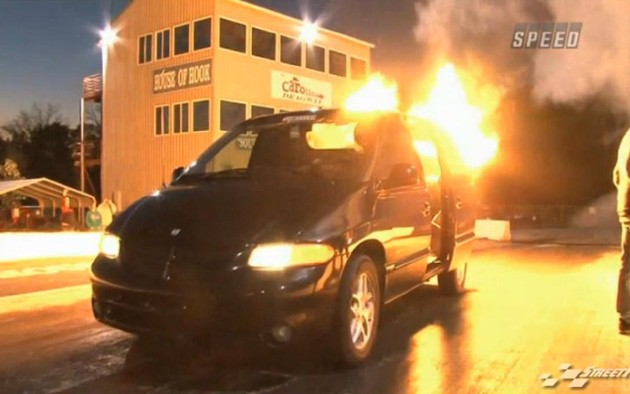 Jet-powered Dodge Caravan
