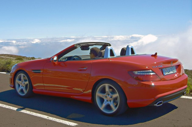 2012 Mercedes-Benz SLK driving