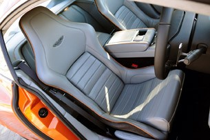 2012 Aston Martin Virage seats