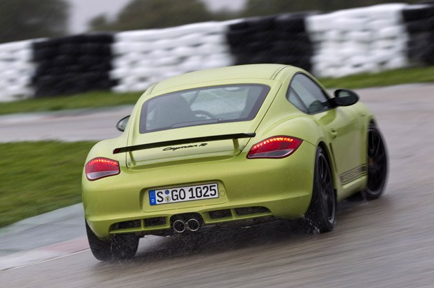 2011 Porsche Cayman R on track