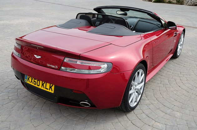 2011 Aston Martin V8 Vantage S rear 3/4 view