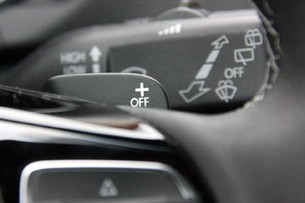 2012 Volkswagen Golf R paddle shifter