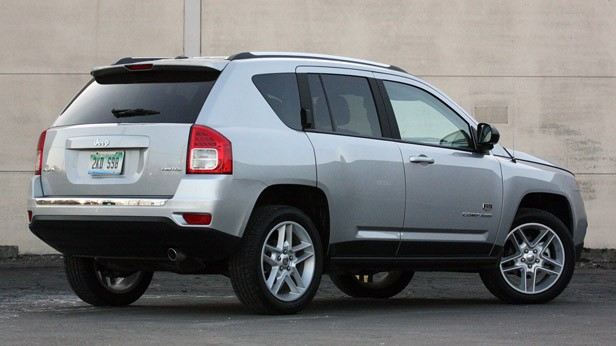 2011 Jeep Compass rear 3/4 view