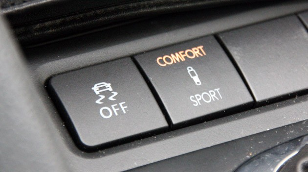 2012 Volkswagen Golf R suspension settings