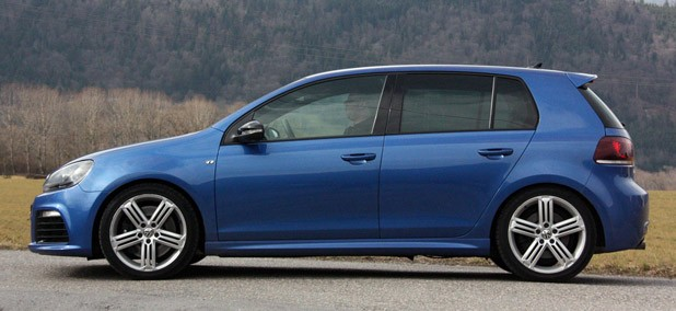 2012 Volkswagen Golf R side view