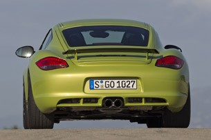 2011 Porsche Cayman R rear view