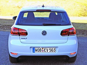 2014 Volkswagen Golf Blue-e-motion rear view