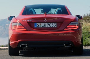 2012 Mercedes-Benz SLK rear view