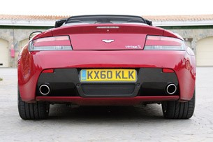2011 Aston Martin V8 Vantage S rear view