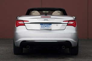 2011 Chrysler 200 Convertible rear view