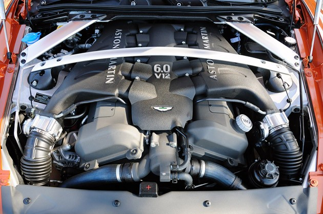 2012 Aston Martin Virage engine