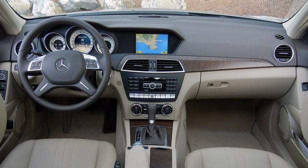 2012 Mercedes-Benz C350 Sedan interior