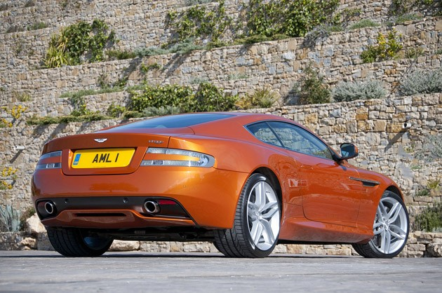 2012 Aston Martin Virage rear 3/4 view
