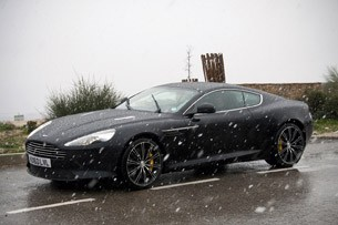 2012 Aston Martin Virage driving