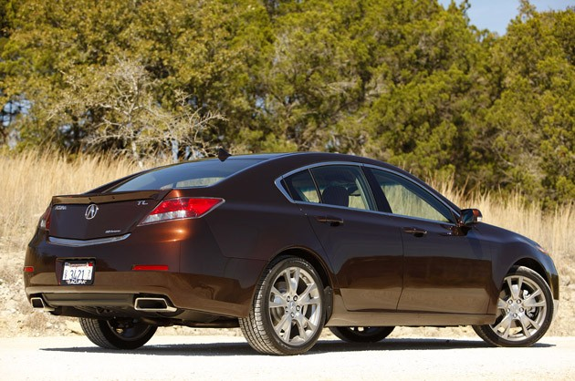 2012 Acura TL rear 3/4 view