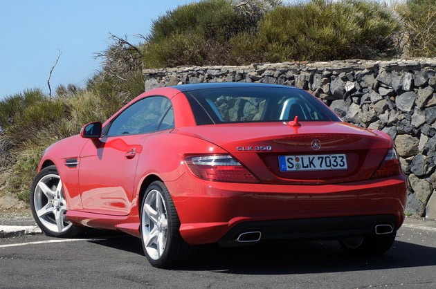 2012 Mercedes-Benz SLK rear 3/4 view