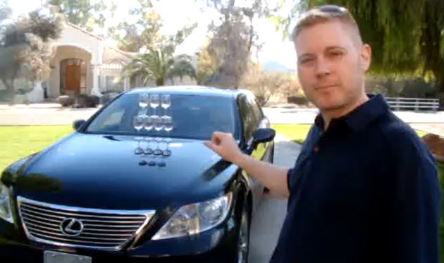 lexus ls 460 owner recreates champagne commercial