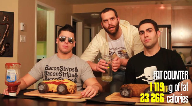Epic Meal Time makes meat cars