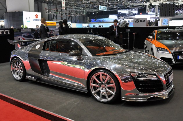 Polished MTM R8 Biturbo debut in Geneva