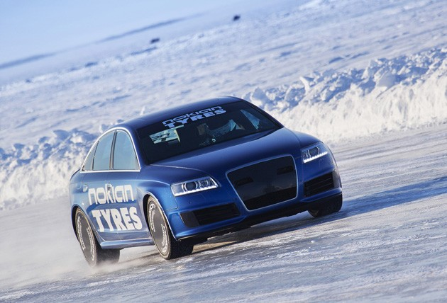 nokia tires ice speed record audi