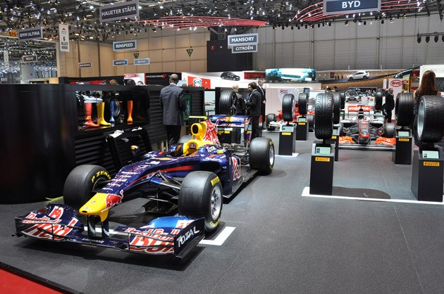 Pirelli 2011 Formula 1 Tire Display in Geneva
