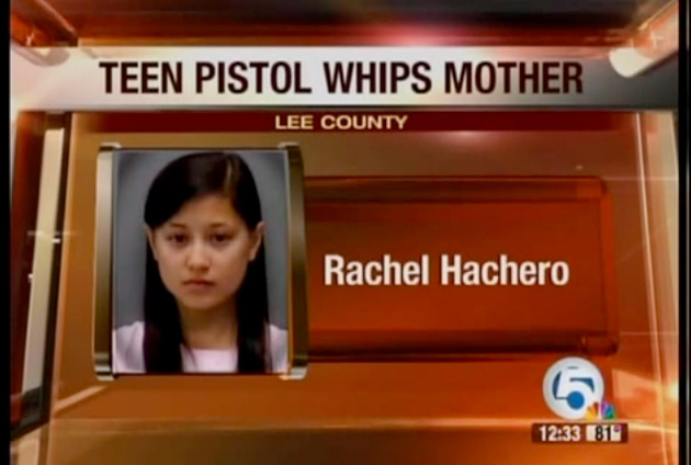 Rachel Hachero pistol-whipping teen screencap