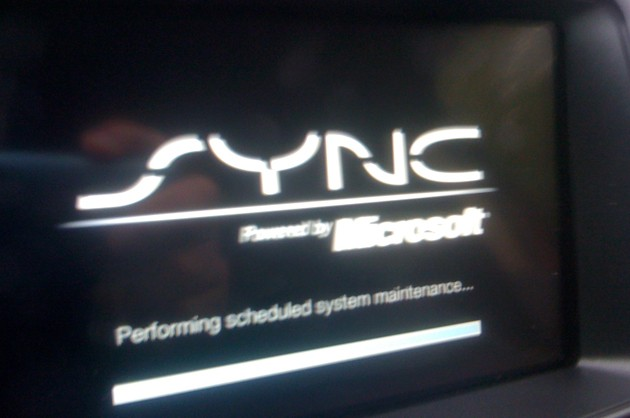 Ford Sync reboot screen