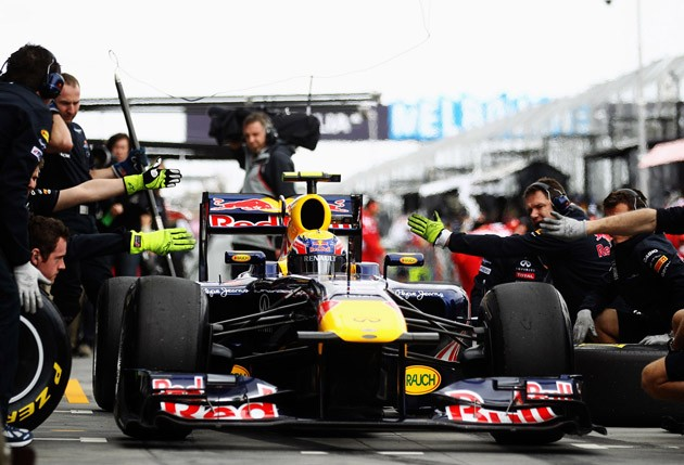 Red Bull pit box