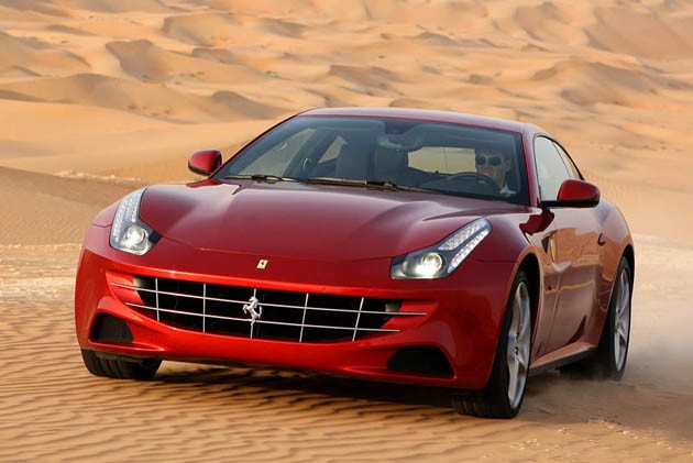 Ferrari FF in the dunes