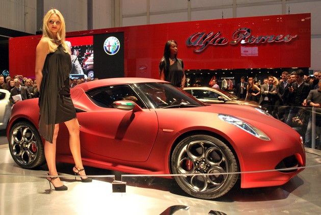 Alfa Romeo 4C Concpet at the 2011 Geneva Motor Show