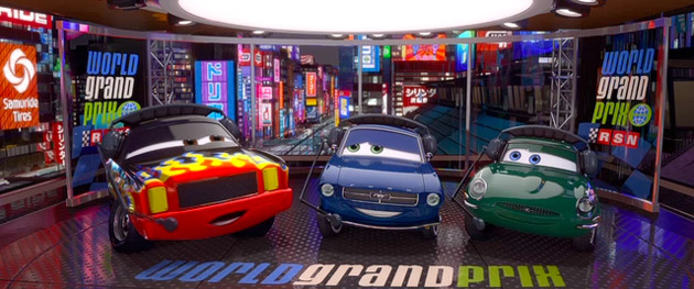 World Grand Prix announcers in Pixar's CARS 2
