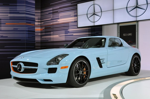 new york 2011 mercedes-benz sls amg gulf livery