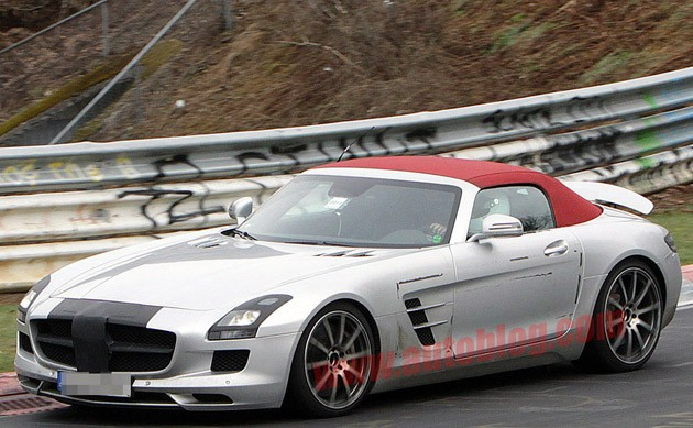 spy photos: mercedes-benz sls amg roadster