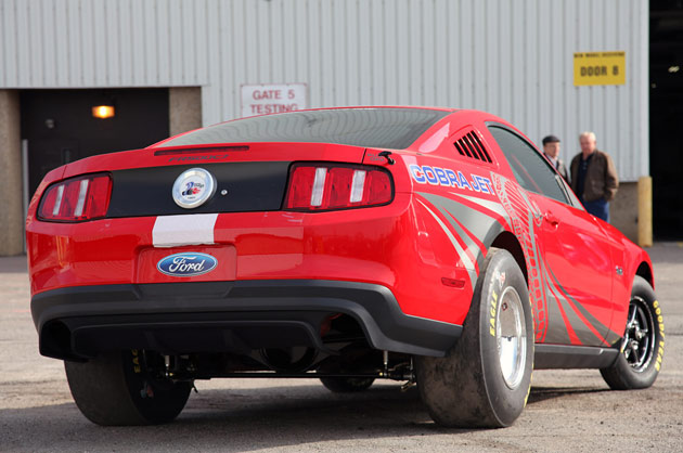 2012 Ford Mustang Cobra Jet 5.4-liter rear 3/4 view