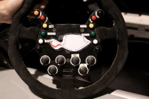 Cadillac CTS-V Coupe SCCA race car steering wheel