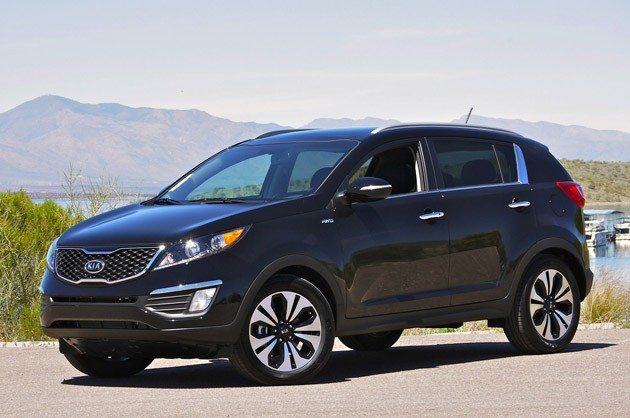 2011 Kia Sportage SX - front three-quarter